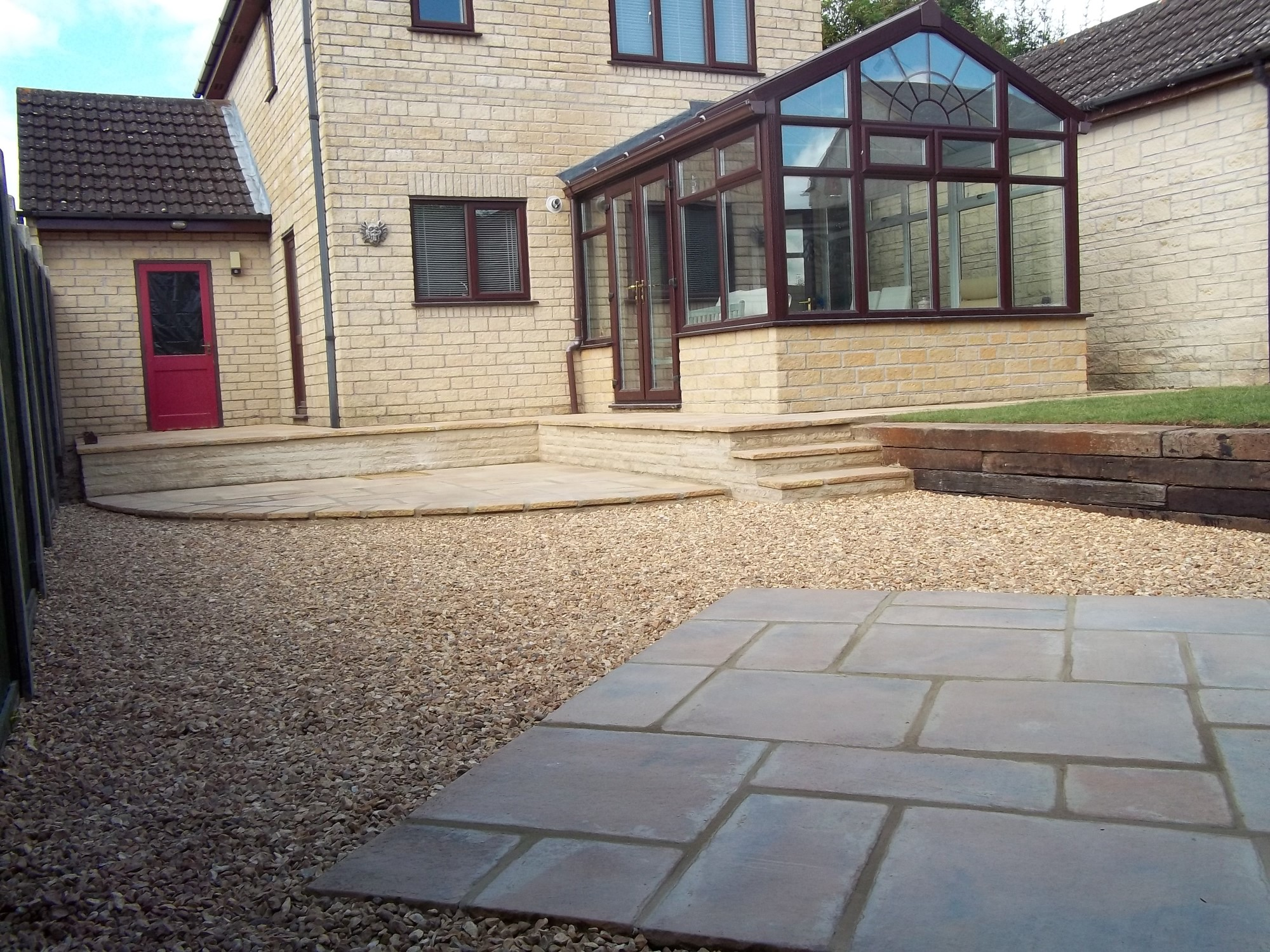 Malmesbury Garden Patio After