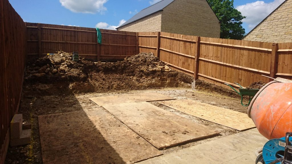 Garden Landscaping Project During