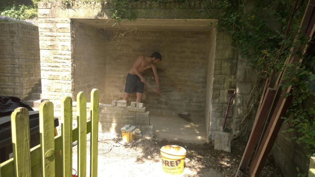 Oil Tank Shed Conversion During